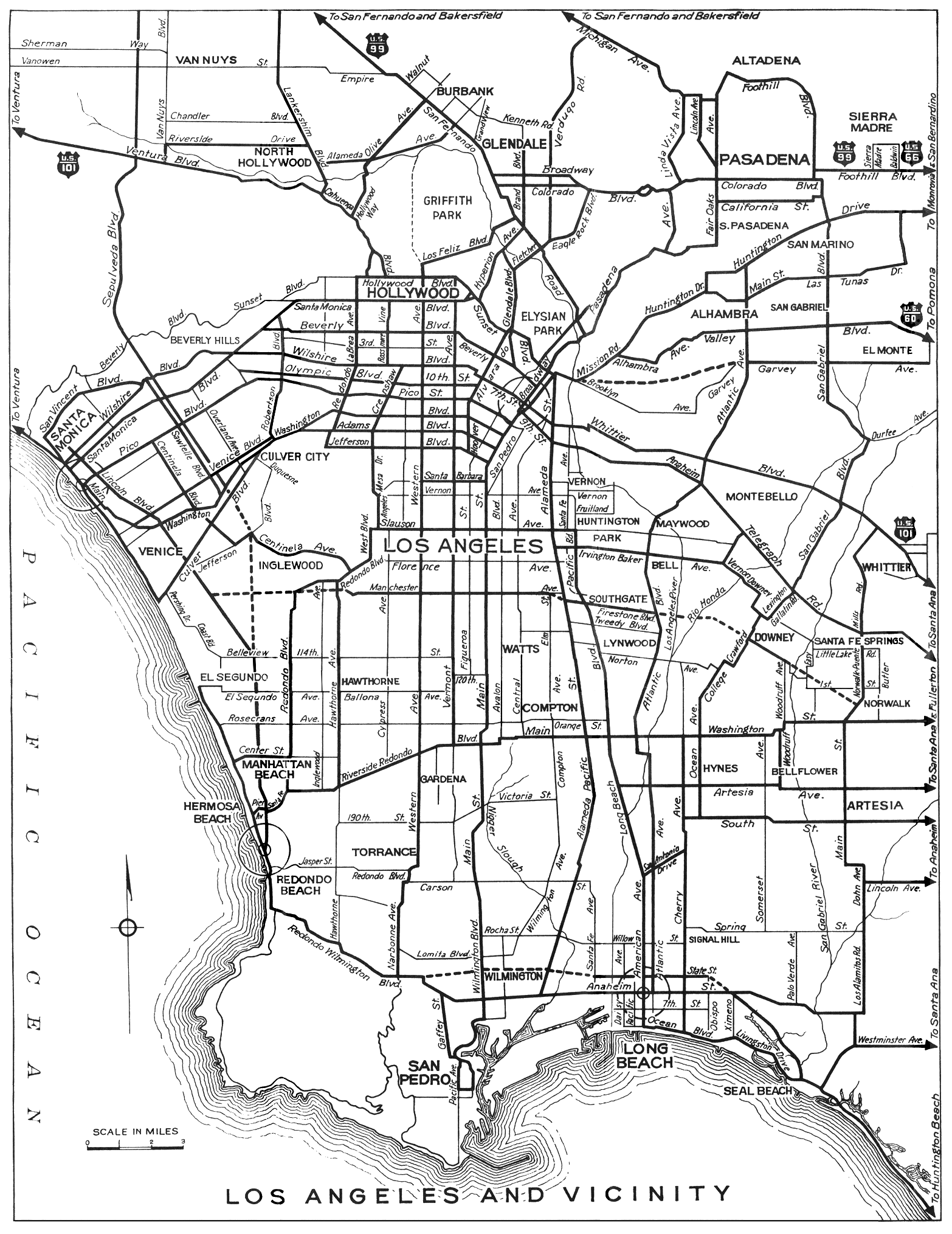 California City Maps At AmericanRoadscom - Los angeles map by city