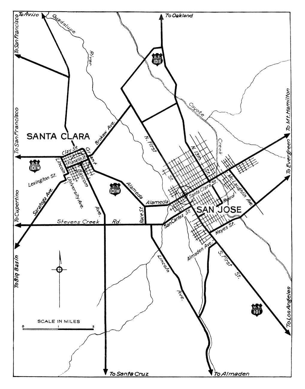 California City Maps At AmericanRoadscom - Us highway map 1940