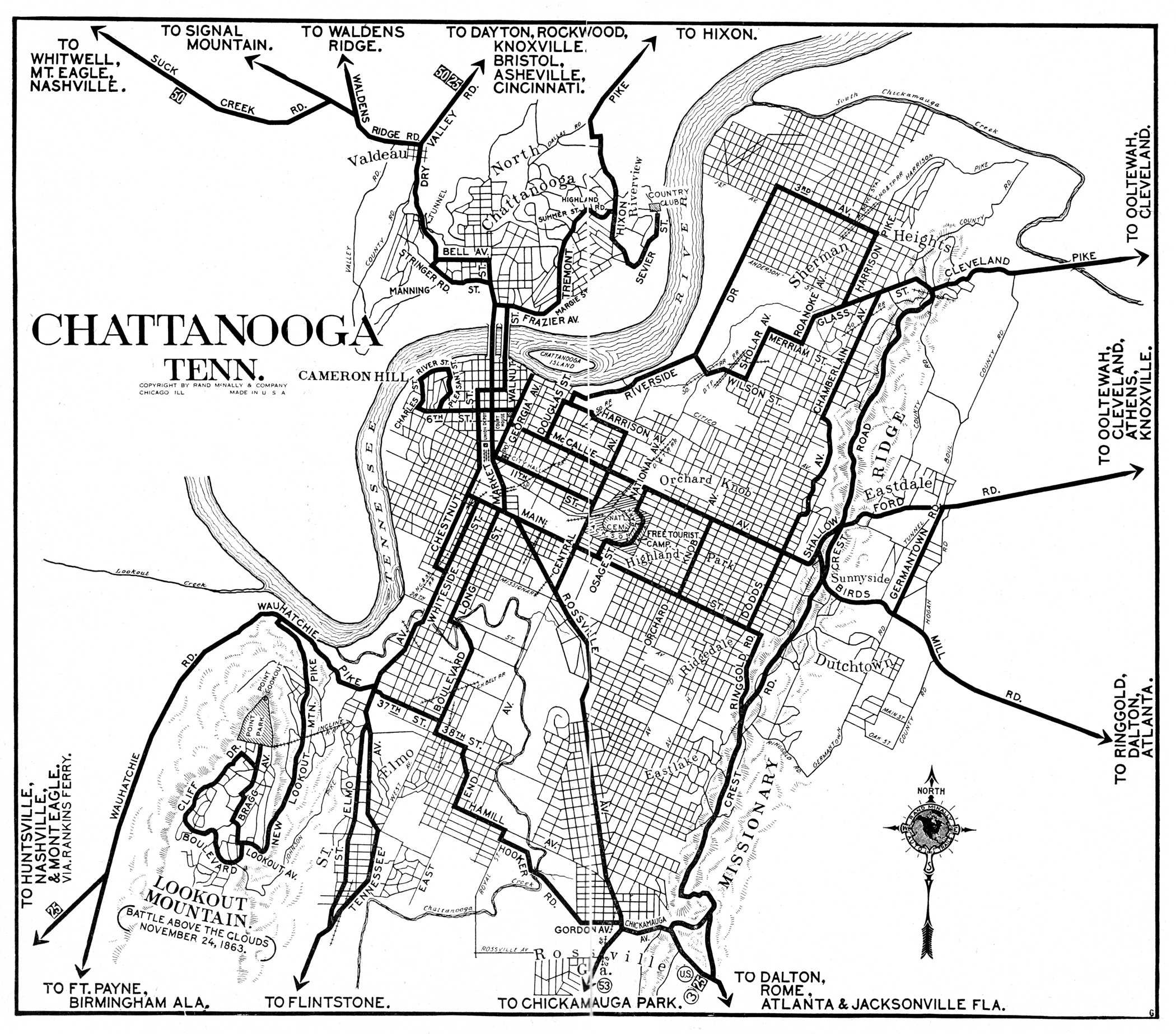 Tennessee City Maps at AmericanRoadscom
