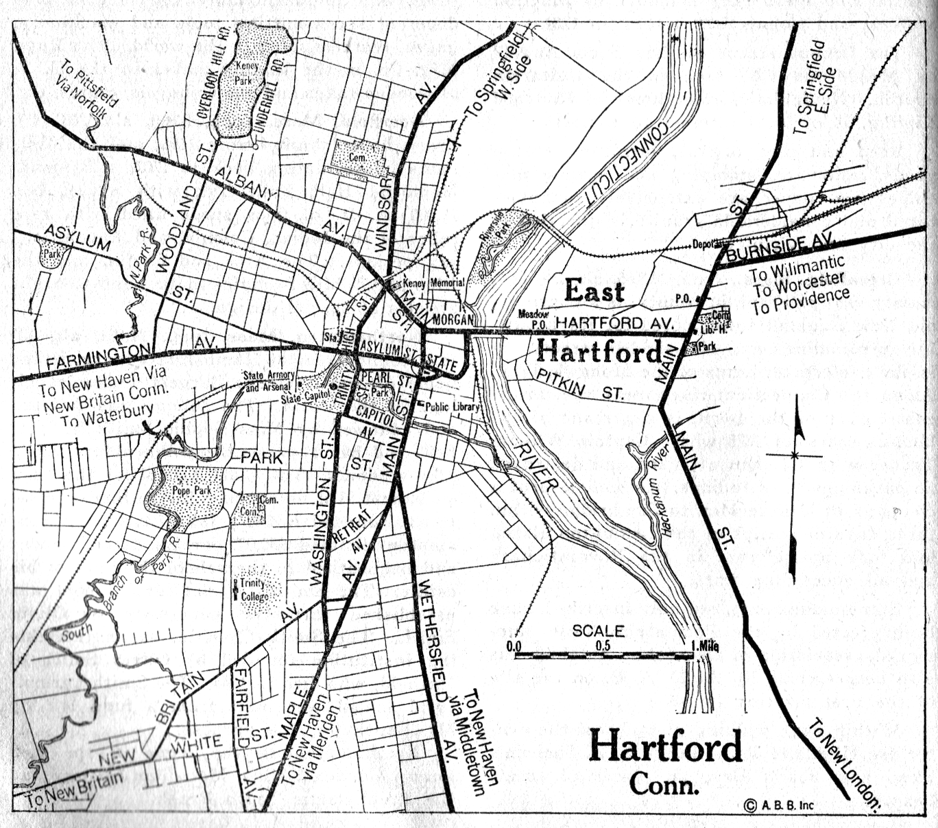 Connecticut City Maps At AmericanRoadscom - Connecticut city map