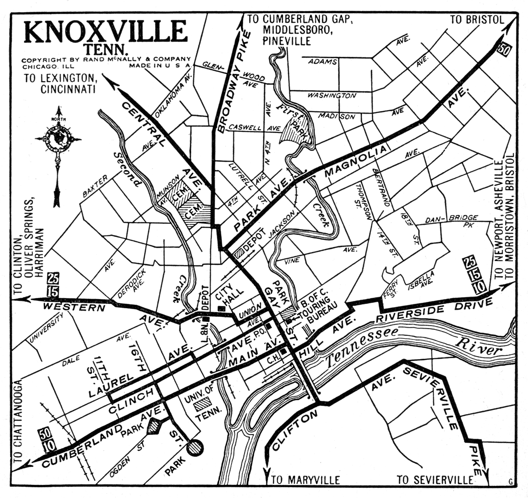 tennessee city maps at americanroadscom - map image