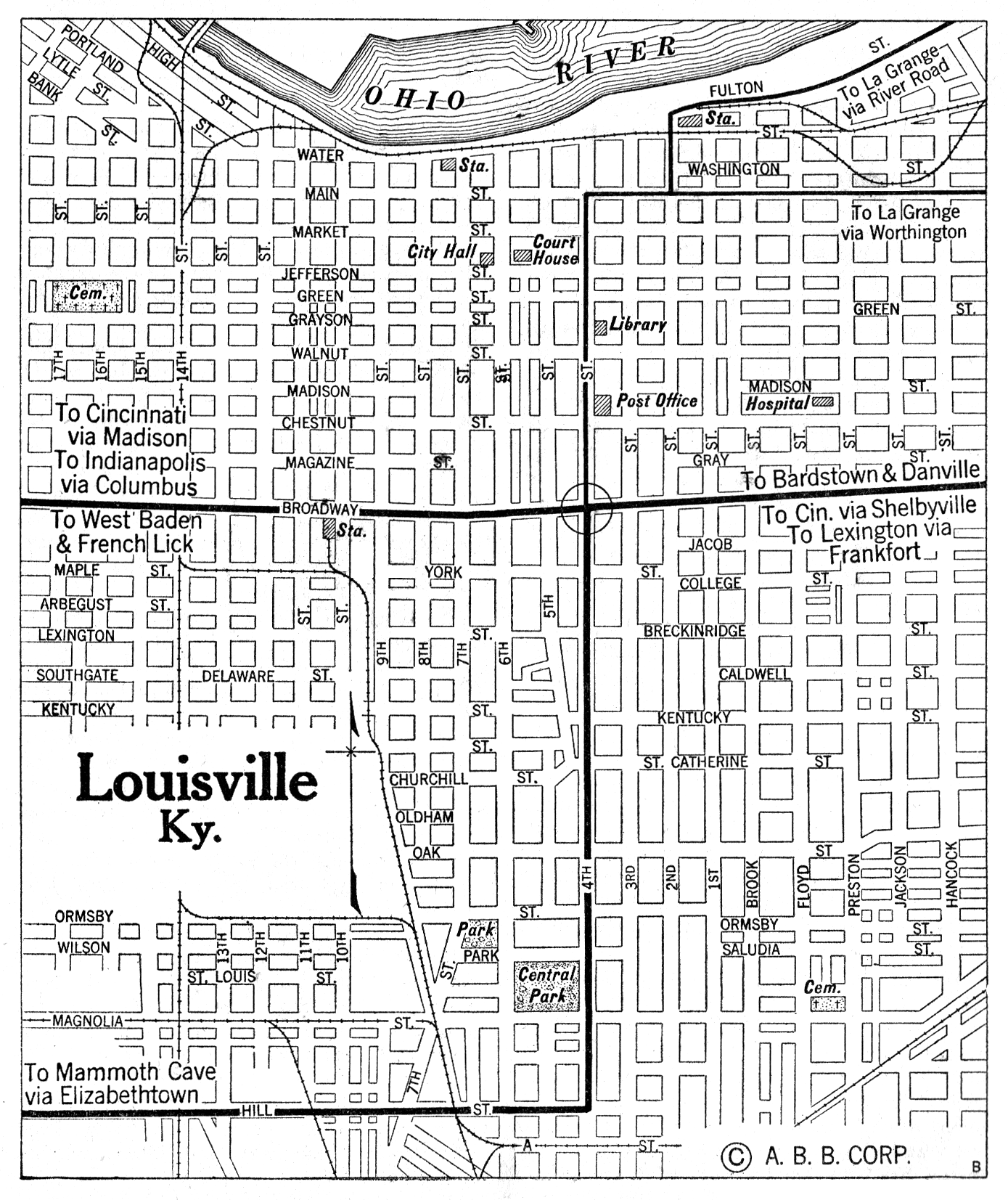 Kentucky City Maps At AmericanRoads
