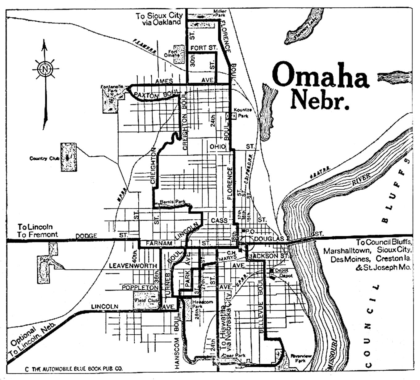Nebraska City Maps At AmericanRoadscom - City map of nebraska