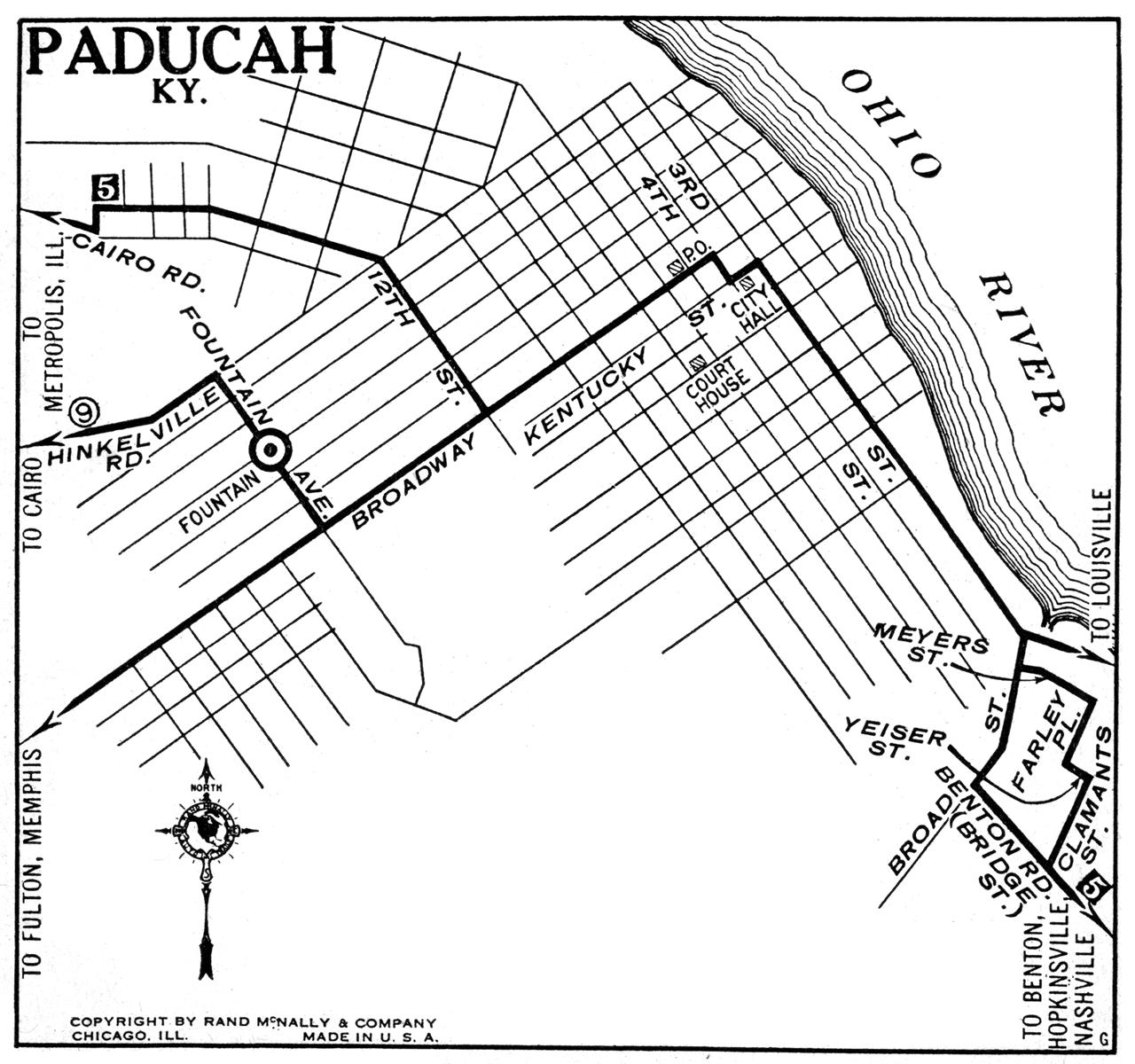 Kentucky City Maps At AmericanRoadscom - Paducah ky map