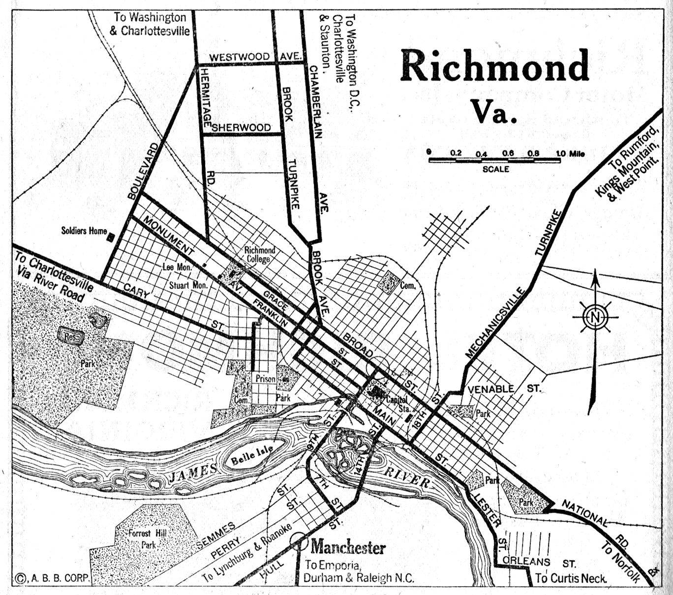 City Of Richmond Map - Bing Images