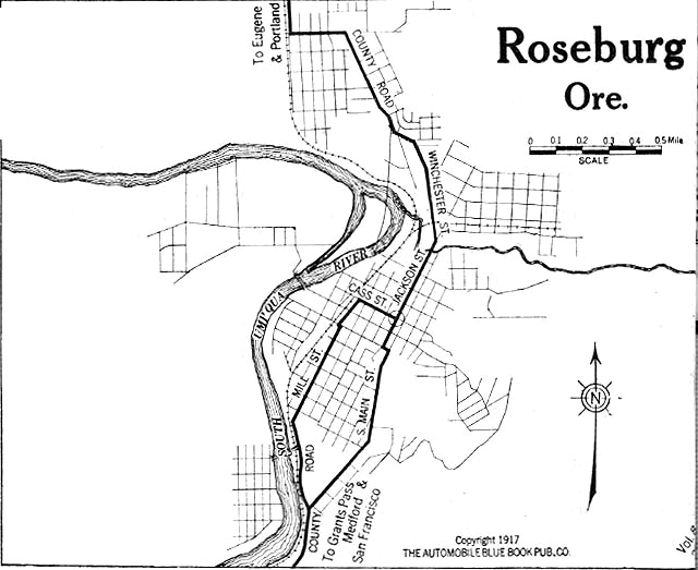 Image Result For Roseburg Oregon Map
