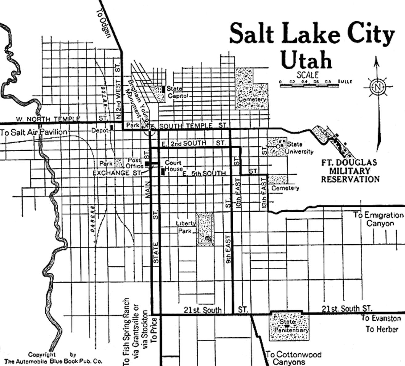 Utah City Maps At AmericanRoadscom - Salt lake city map of us