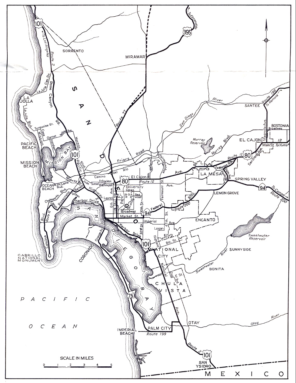 Us 395 Still Went Up Pomerado Road In 1948 But The New Freeway Was Planned Straight Up The I 15 Corridor