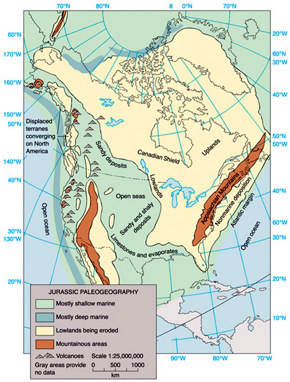 Jurassic period north america in the jurassic period gumiabroncs Image collections