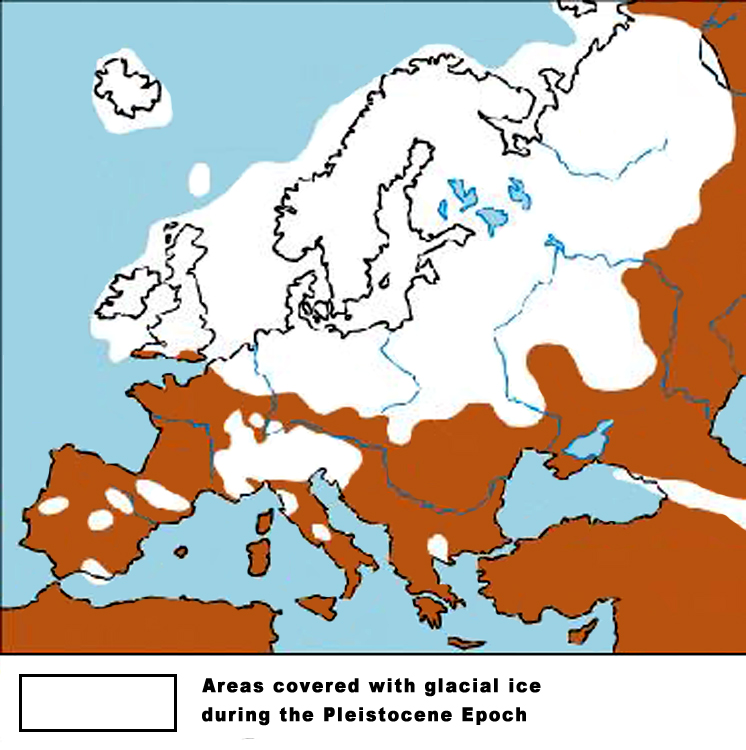 Ice Age Survival Threading The Genetic And Behavioral Bottleneck - Map of how last ice age affected us