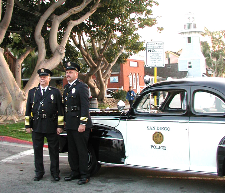 S.D. police at the Embarcadero