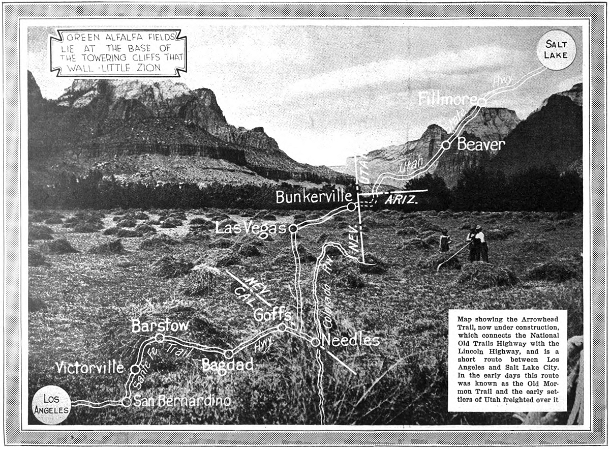 A Visit To Little Zion Canyon American Motorist August - Los angeles to utah map