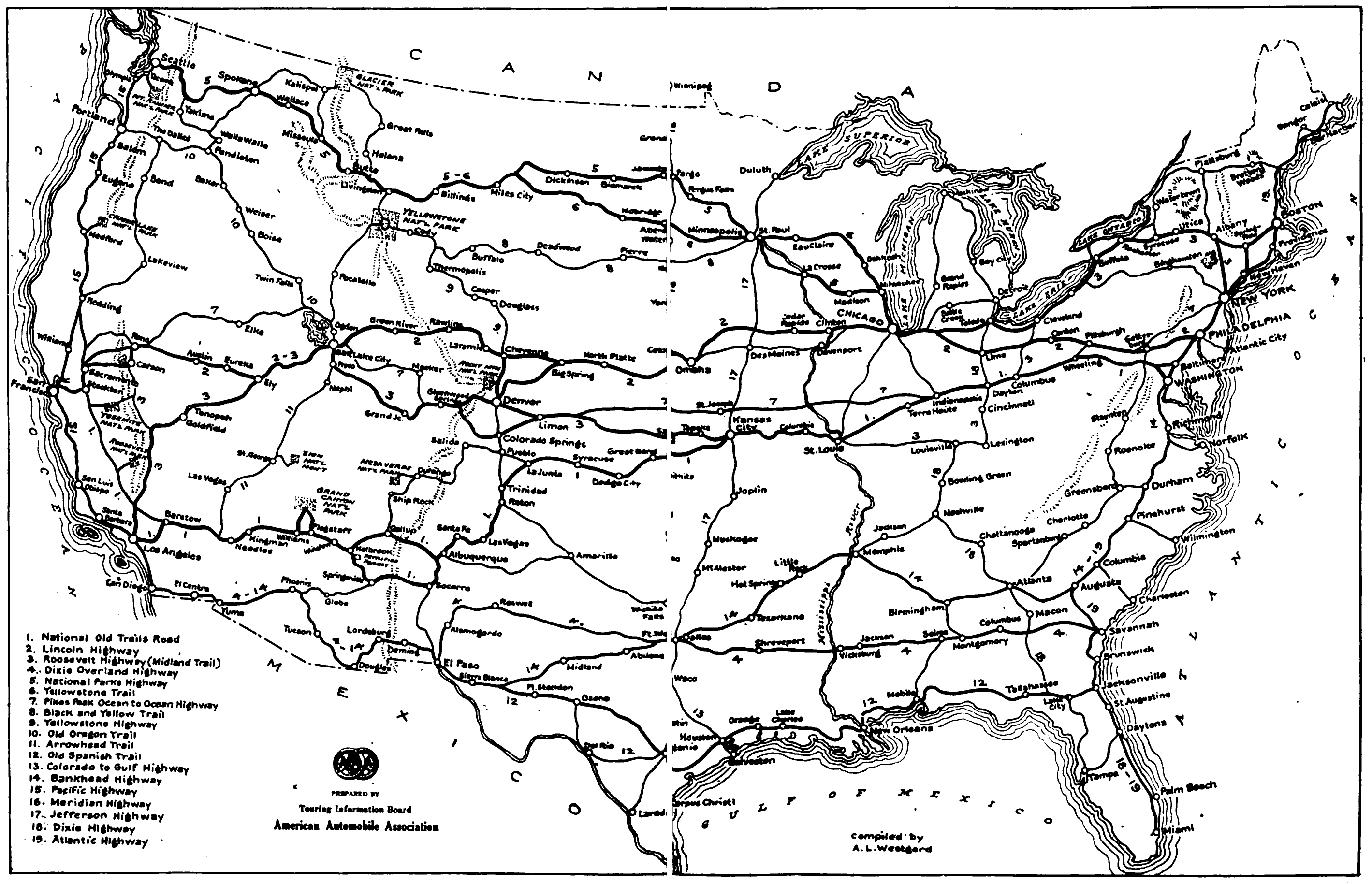 map us highway routes – Road Map of the Us