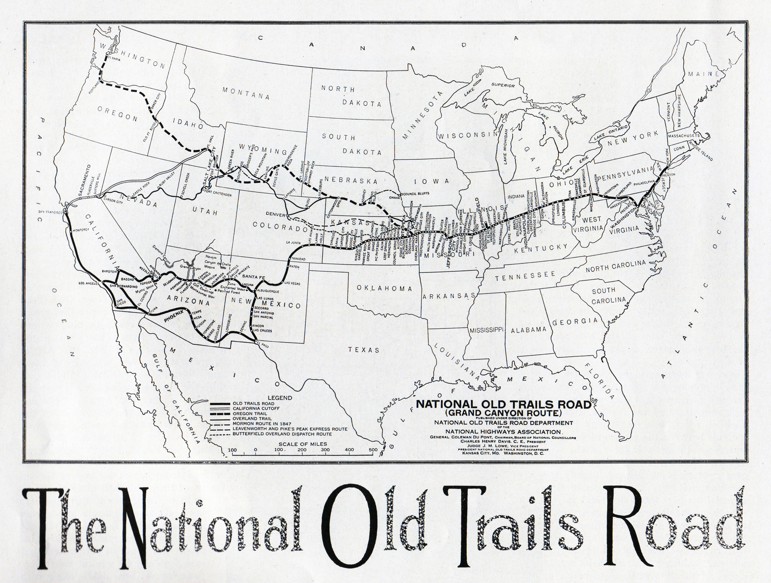 The National Old Trails Road Travel Magazine May  At - Map us roads