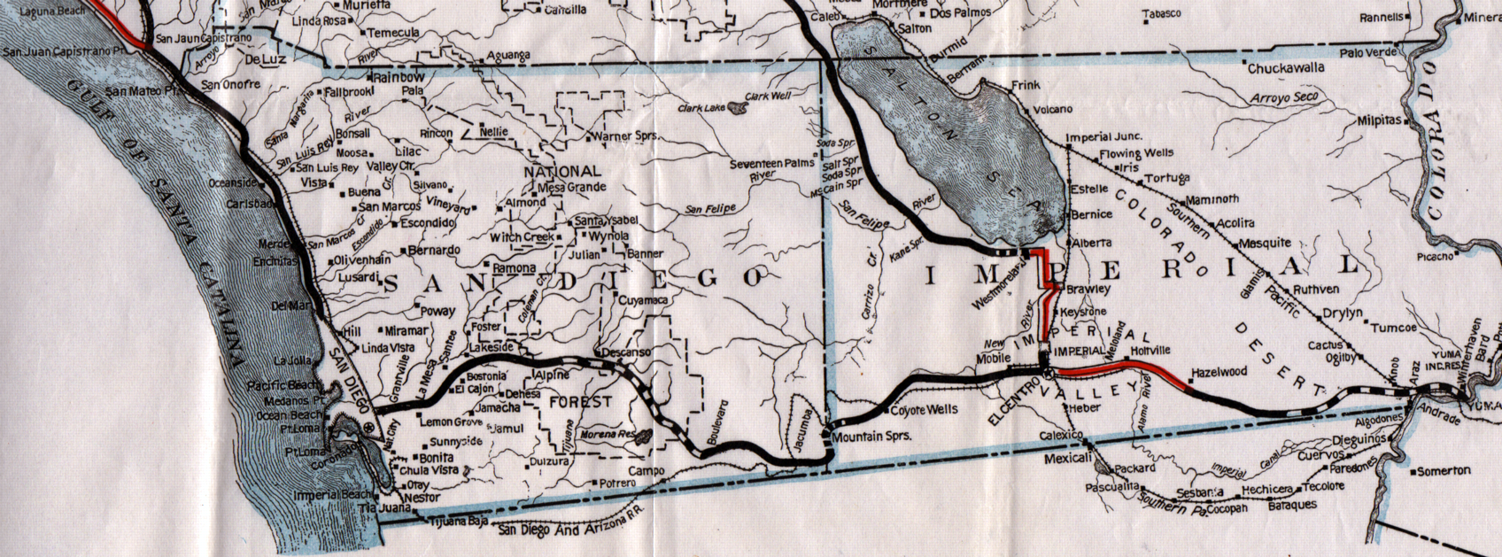 1924 san diego and imperial map