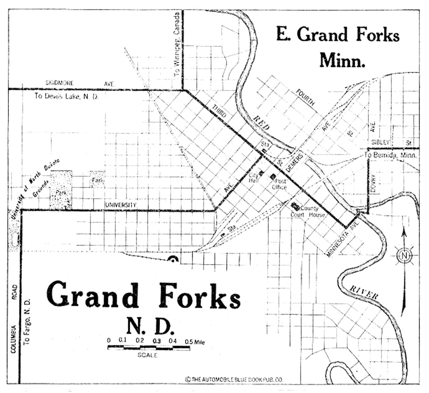 North Dakota City Maps at AmericanRoadscom