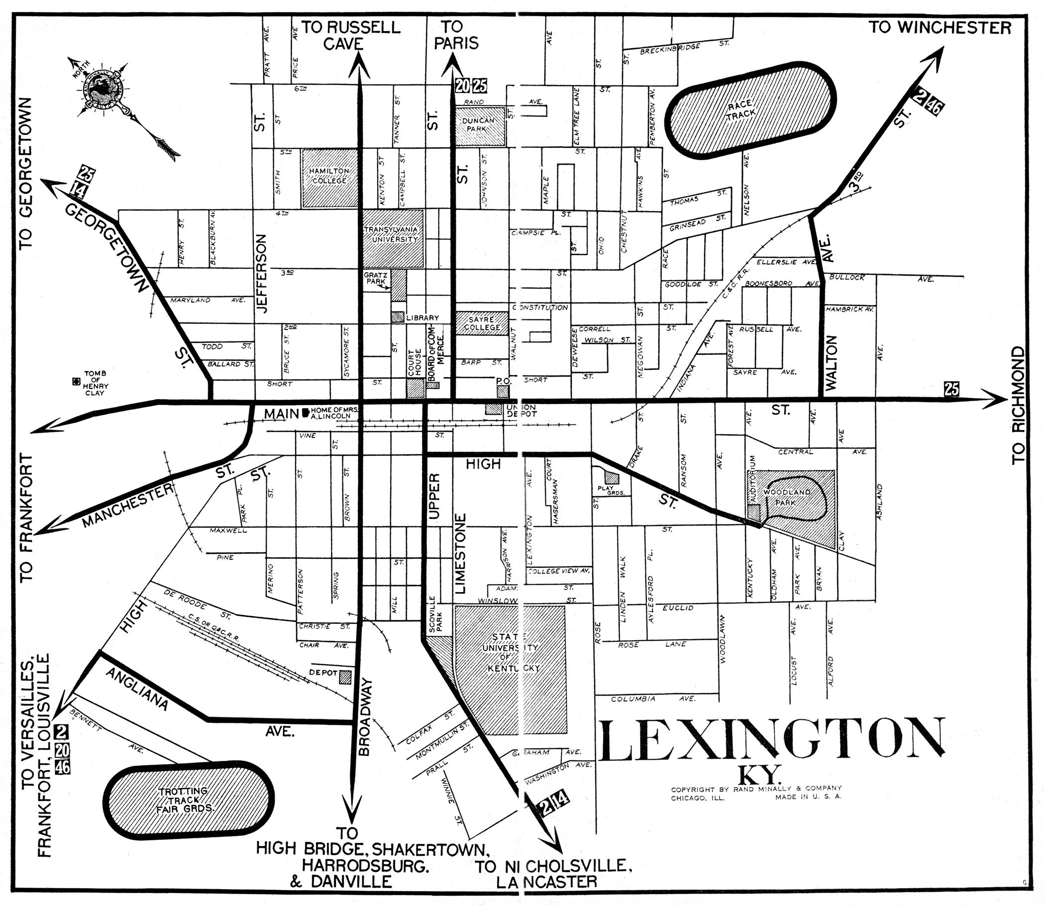 Map Image Kentucky City Maps at AmericanRoadscom