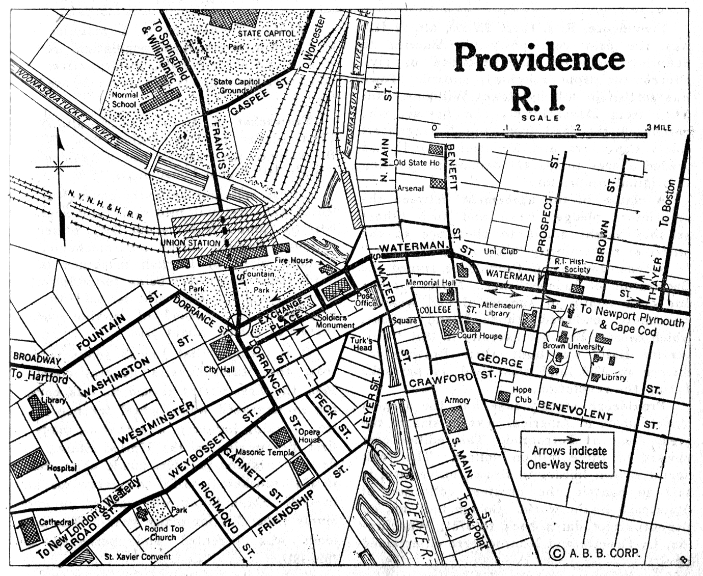 Rhode Island City Maps at AmericanRoads.com
